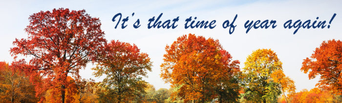 Colorful autumn trees landscape fall season
